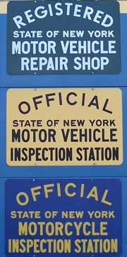 NYS inspection station